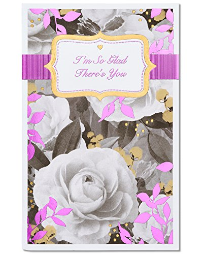 American Greetings So Glad Floral Valentine's Day Card with Foil