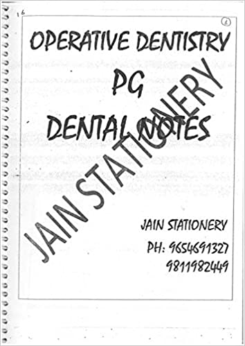Amazon in: Buy Operative Dentistry (PG-Hand Written Notes) Book