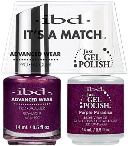 ibd - Its A Match -Duo Pack- Purple Paradise - 14 mL / 0.5 oz Each: Amazon.es: Belleza