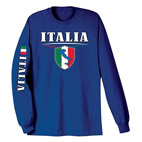 WHAT ON EARTH Unisex Adult International Long Sleeve T-Shirt- Italia (Italy) - Large -