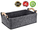 Small Baskets Small Storage Baskets Bin Narrow Storage Basket for Towels Dog Cat Toys Clothes Blankets Office Supplies Dippers Baby Toys Storage Basket Light Gray