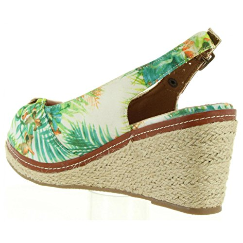Pour Compensées Refresh Textil 63397 Chaussures Blanco Femme qwS1ZAHWS