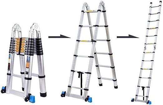 D Escaleras Extensibles Escalera Recta Multifuncional Escalera Telescópica Aleación De Aluminio Más Grueso (Tamaño : Straight ladder5.6m): Amazon.es: Hogar