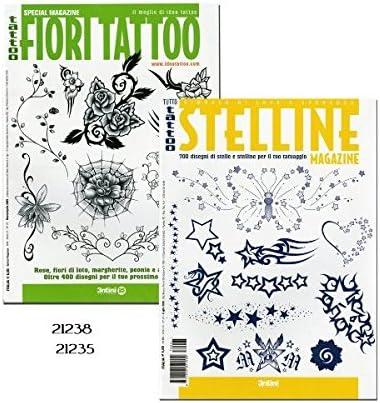 Fiori Tattoo.Amazon Com Tattoo Stelline Little Stars And Tattoo Fiori Tattoo