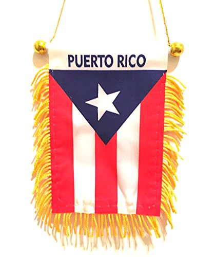 Price comparison product image PUERTO RICO Mini rearview mirror mini flag, Boricua pride Puerto Rican flag