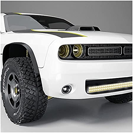 ECCPP Fog light Assembly Conversion Kit Fit For 2015 2016 DODGE CHALLENGER Projector Black Housing With Clear Lens WIRING KIT INCLUDED Plug And Play
