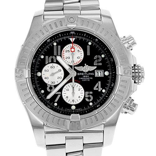Breitling Men's A1337011/B973 Super Avenger New Black Chronograph Dial Watch