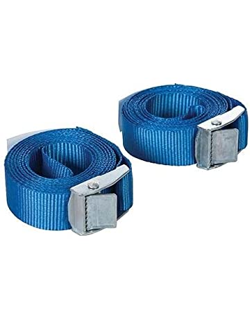 4 Buckled Straps 25mm Cam Buckle 5 meters Long Heavy Duty Load Securing Blue