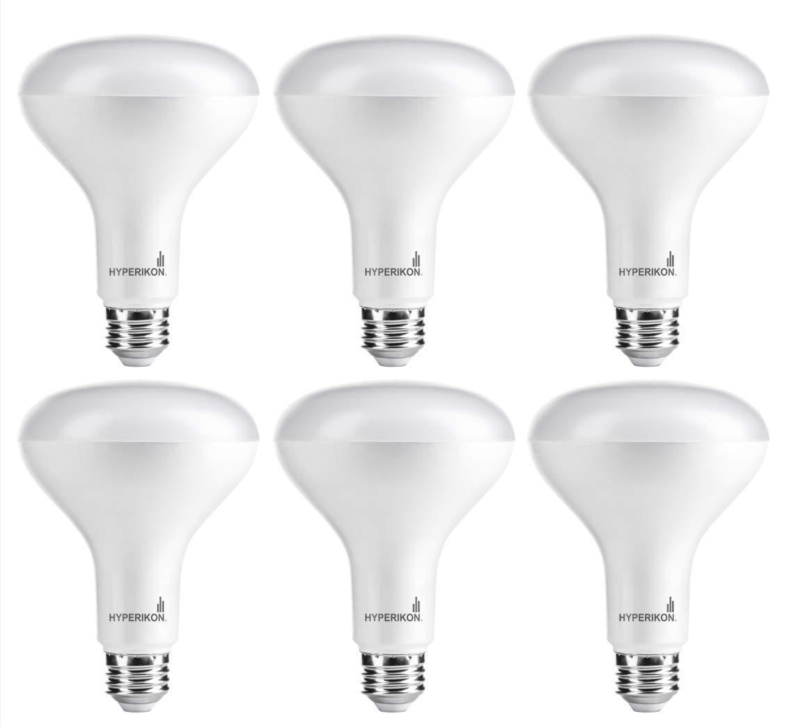 Hyperikon BR30 LED Bulb Dimmable, 9W (65W Equivalent), 2700K (Warm White), Wide Flood Light Bulb, Medium Base E26, UL & Energy Star - Great for Living Room, Bedroom, Patio (6 Pack)