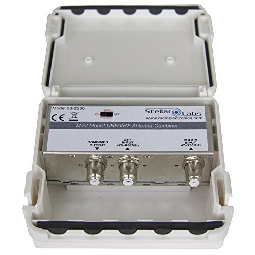 (Stellar Labs 33-2230 UHF/VHF Signal Combiner, 2 Antenna/Single Feed,)
