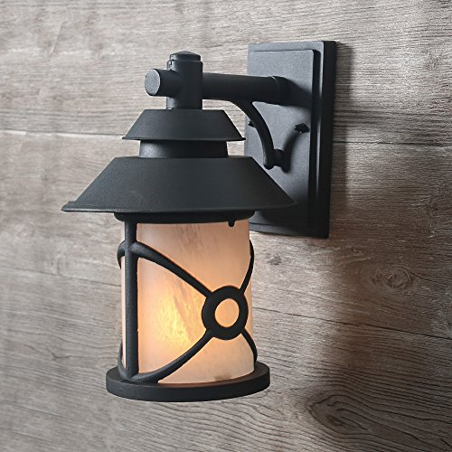 LOG BARN 1-Light Outdoor Wall Sconces Patio Porch Wall Lamps Transitional Wall Lantern - 1 Outdoor Wall Lantern
