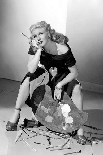 ginger-rogers-in-it-had-to-be-you-hopeless-looking-with-paint-supplies-11x17-mini-