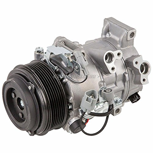 AC Compressor & A/C Clutch For Toyota Camry V6 & Avalon Replaces Denso 6SBU16 7-Groove w/Triangle Plug - BuyAutoParts 60-01916NA NEW