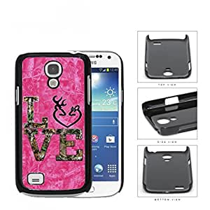 LOVE Browning Deer Head PINK Camo Tree Oak Pattern #A03 Samsung i9190 Galaxy S4 (MINI) Hard Snap on Plastic Cell Phone Case Cover