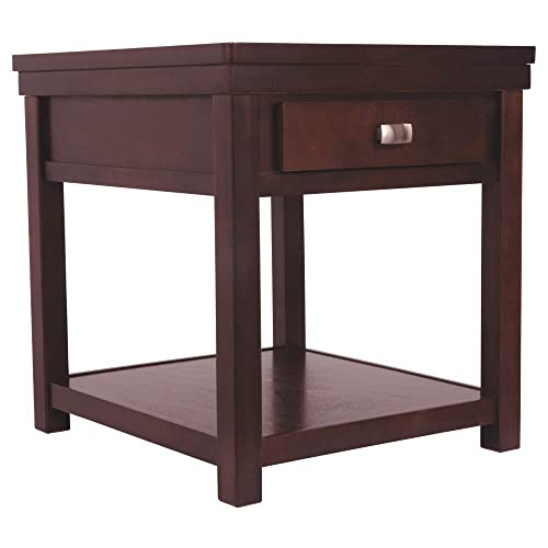 Signature Design by Ashley Hatsuko Rectangular End Table Dark Brown