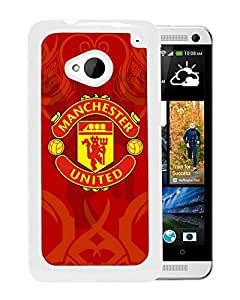 Manchester United 6 White High Quality Custom HTC ONE M7 Protective Phone Case