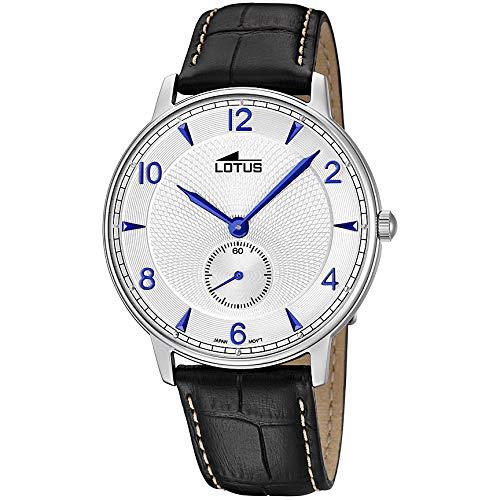 Lotus Correa Analógico Cuarzo Reloj Cuero Para Hombre De Con En 534AqRjL