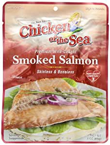 Chicken of the Sea Pacific Smoked Salmon Skinless and Boneless Pouch, 3-Ounce Pouches (Pack of 12)