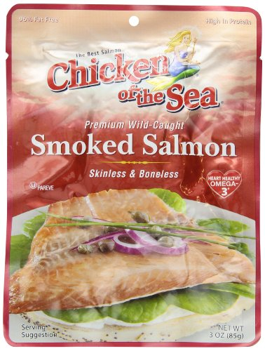 Chicken of the Sea Skinless & Boneless Pacific Smoked Salmon, 3 Ounce Pouch(Pack of 12) - Smoked Pacific Salmon