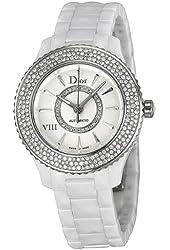 Christian Dior VIII Automatic Diamond White Ceramic Ladies Watch CD1235E5C001