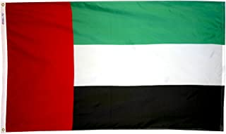 product image for Annin Flagmakers Model 198792 United Arab Emirates Flag 3x5 ft. Nylon SolarGuard Nyl-Glo 100% Made in USA to Official United Nations Design Specifications.
