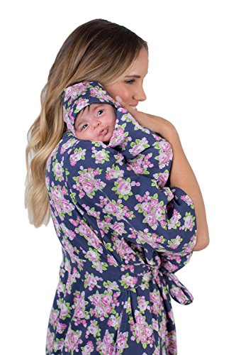 - Matching Delivery Robe and Swaddle Blanket Set Mom and Baby (S/M 2-10, Eve)
