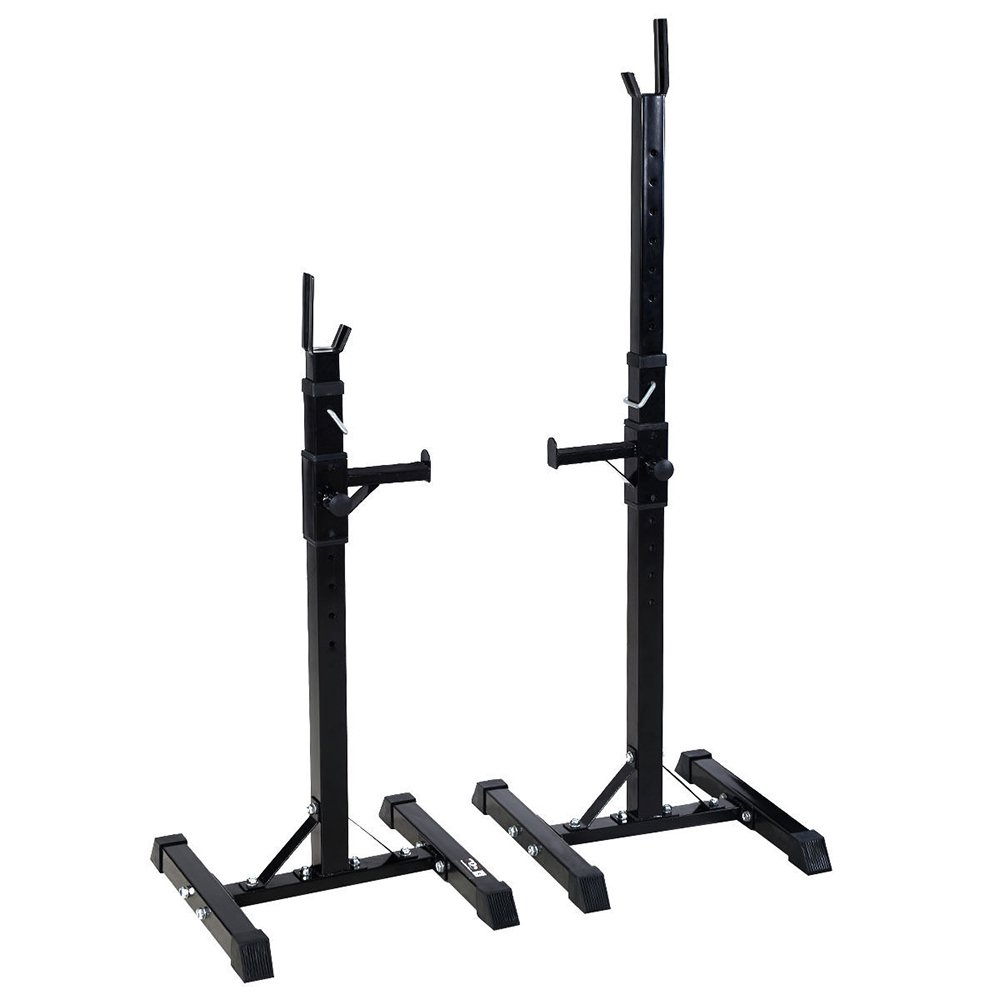 Squat Stands and Racks 13 Adjustable Levels Standard Dumbbell Rack Sturdy Steel Bench Stands Portable Dumbbell bracket for Home Gym Exercise Fitness Workout 550lbs Capacity Black
