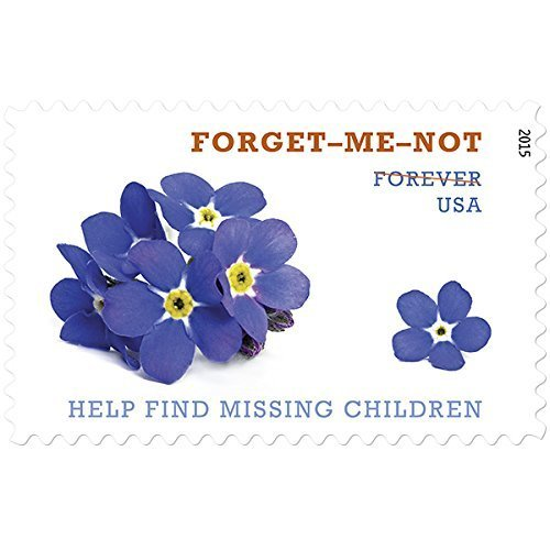 Help Find Missing Children Forget-Me-Not Sheet of 20 Forever Stamps Scott 4987 By - Price First Class International Usps