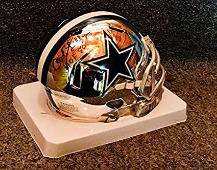 Amazon.com  Bob Lilly Autographed Signed Mini Helmetdallas Cowboys ... bc8d9756c
