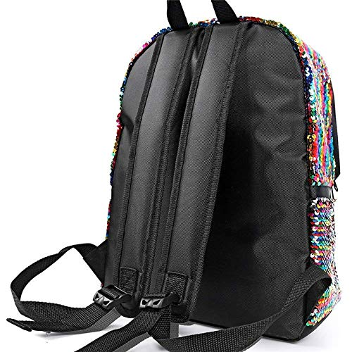 Daypack Bag Magic Colorful for Sparkly Travel School Backpack Shoulder Sequin Hiking Fashion Magibag Reversible ZxqYdwZ8