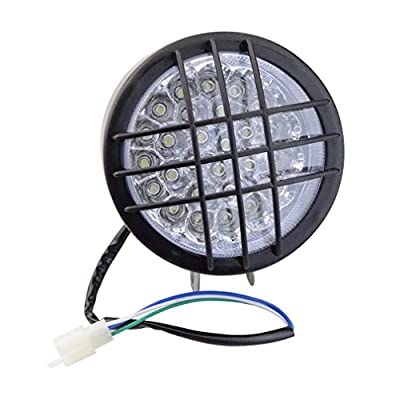 GOOFIT Motorcycle LED Headlight Front Light Turn Signal Indicators For 50cc 110cc 150cc Scooter Moped Quad ATV