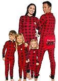 Lazy One Bear Cheeks Kids Red & Black Plaid Flapjacks (8)