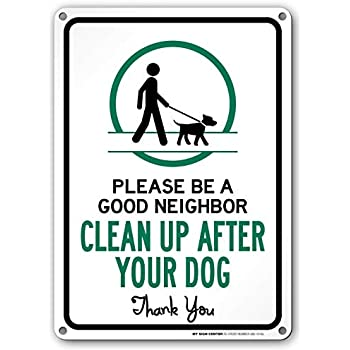 Amazon.com: Clean Up After your Dog Yard Sign With Stake ...