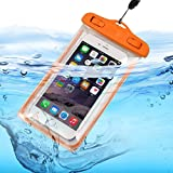 ONX3 (Orange) Huawei Nexus 6P Universal Transparent Mobile Cell Smart Phone, Passport, Money Underwater Waterproof Protection Bag Touch Responsive