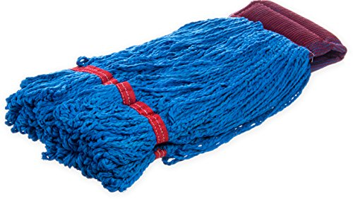 Carlisle 36942014 Microfiber Medium Loop End Red Band Mop, 20