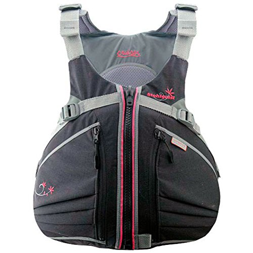 Stohlquist Women's Cruiser Life Jacket/Personal Floatation Device (Black/Pink, X-Small/Small)