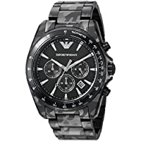 Emporio Armani Men's 'Sigma' Quartz Stainless-Steel-Plated Casual Watch, Color:Black (Model: AR11027)