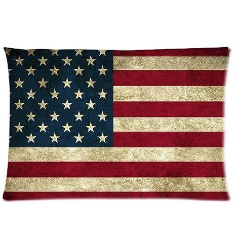 Amazon.com: Bandera americana almohada funda de almohada ...