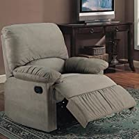 600267G Glider Recliner in Sage Microfiber by Coaster Co.