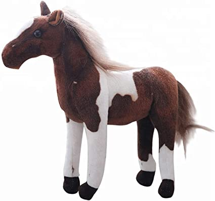 Realistic Yard//Wild Animal Figurine Horse Model Kid Play Plush Doll Toy Gift