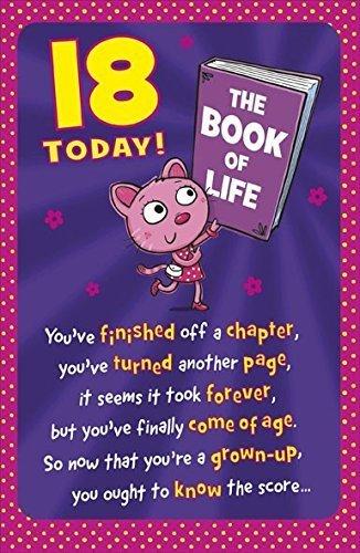 Saludos eggelston era 18 cumpleaños tarjeta - Rosa gato y ...
