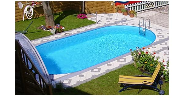 Miganeo® – piscina enterrada ovalada, serie Styria Oval, piscina desmontable, tamaños diferentes, 490 x 300 x 120 cm / 800 x 400 x 150 cm, ...