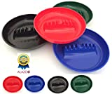 Set of 4 ALAZCO Round Plastic Cigarette Cigar Tabletop Ashtray (Blue, Red, Green & Black in each set) AZ4CAS