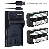 Kastar Battery (X2) & Slim USB Charger for Sony NP-F570 NP-F550 NP-F330 and CCD-RV100 RV200 SC5 SC9 TR1 TR215 TR940 TR917 Camera, CN-126 CN-160 CN-216 CN-304 VL600 YN 300 LED Video Light