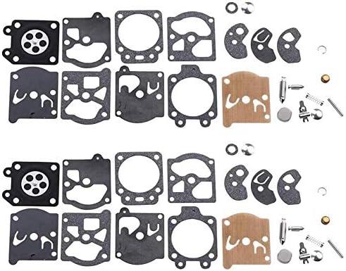 ACAMPTAR Paquete de 2 Kit de Reparaci/óN de Carburador K10-WAT para Walbro Carb Poulan Craftsman Chainsaw Trimmer Weedeater Soplador de Hojas