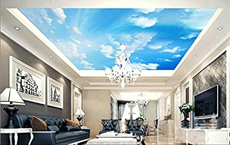 3d Sky Cloud 100 Ceiling Wall Paper Wall Print Decal Wall Deco Aj