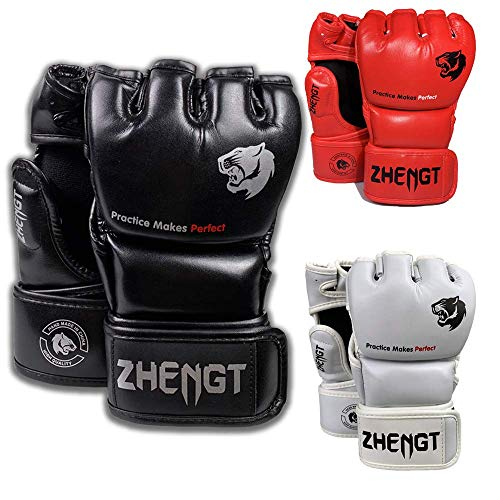 ZTTY MMA Gloves Martial Arts Training Sparring Punching Bag Gloves for The Kickboxing with Microfiber Leather from ZTTY