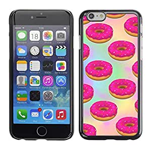 Planetar® ( Doughnut Pink Sweets Pastry Baking ) Apple iPhone 6 Plus(5.5 inches)Fundas Cover Cubre Hard Case Cover