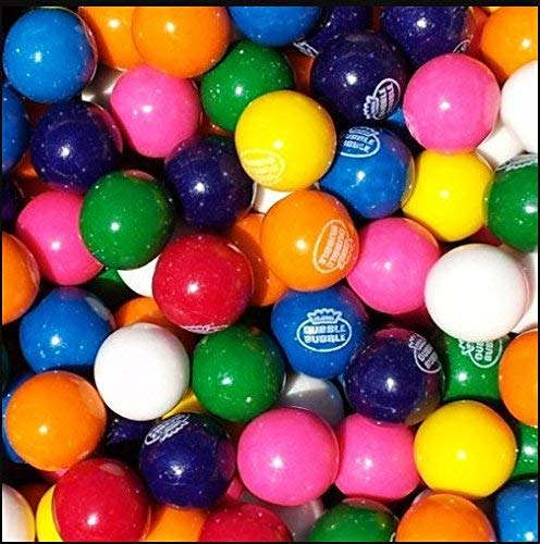Gumballs 1 inch-Dubble Bubble Bubble Gumballs, 5LB bulk gumballs - Comes in a Sealed / Resealable Candy Bag