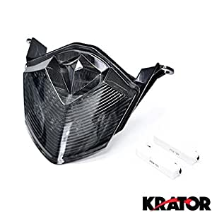 Krator 2007-2012 Kawasaki ZX6R ZX10R Z750 Z1000 LED TailLights Brake Tail Lights with Integrated Turn Signals Indicators Smoke Motorcycle